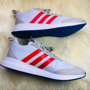 Adidas Men's Run 60s White, Red and Blue Shoes